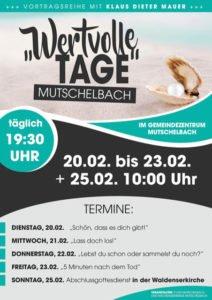 Gottesdienst Wertvolle Tage @ Waldenserkirche Mutschelbach